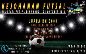 Kejohanan Futsal All Stars Senawang 2016 @ All Stars Futsal Senawang