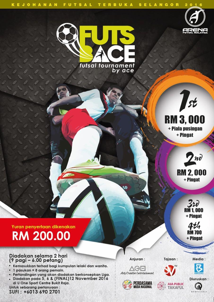 Futs Bace Futsal Tournament @  U One Sport Centre Bukit Raja, Klang.