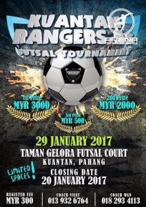 Kuantan Rangers 5S Futsal Tournament @ Padang Futsal Taman Gelora