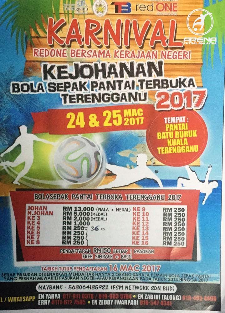 Kejohanan Bola Sepak Pantai Terbuka Terengganu 2017 @ Pantai Batu Buruk Kuala Terengganu