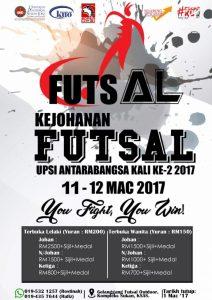 Kejohanan Futsal UPSI Antarabangsa Kali Ke-2 2017 @ Gelanggang Futsal outdoor, Kompleks Sukan, KSAS
