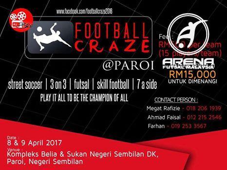 Football Craze @ Kompleks Belia & Sukan Paroi