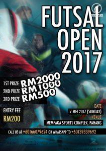 Futsal Open 2017 @ Mempaga Sports Complex, Pahang