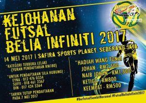Kejohanan Futsal Belia Infiniti 2017 @ Safira Sports Planet, Pulau Pinang