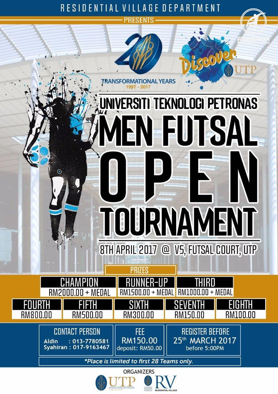 Men Futsal Open Tournament @ V5 Futsal Court, UTP