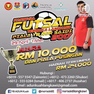 Karnival Futsal Terbuka Langkawi @ Gelanggang Futsal De Baron Resort, Pekan Rabu Langkawi