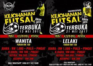 Kejohanan Futsal Terbuka Wanita Aman Jaya @ MBC, Klebang Perak
