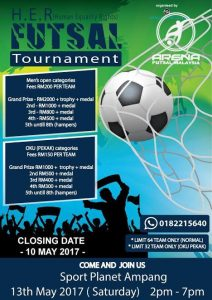 H.E.R Futsal Tournament @ Sports Planet Ampang