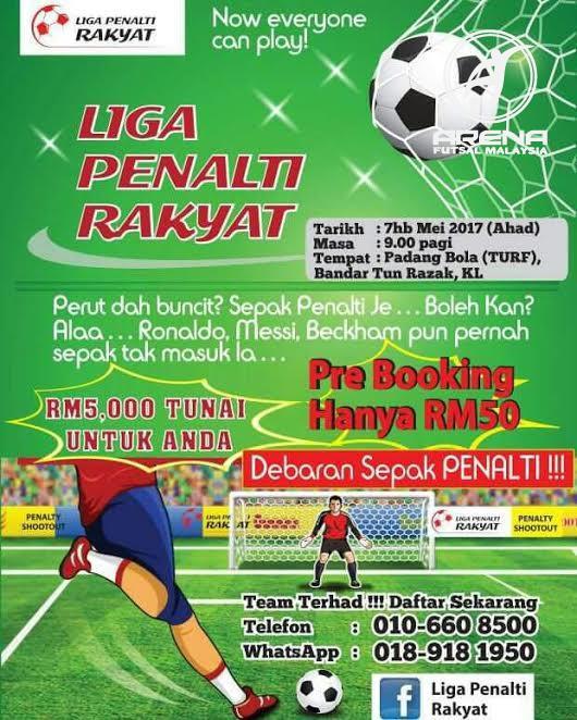 Liga Penalti Rakyat @ Padang Bola (Turf) Bandar Tun Razak, KL