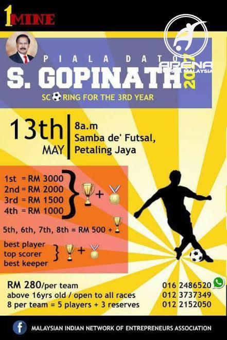 Piala Dato S.Gopinath 2017 @ Samba De'Futsal Petaling Jaya