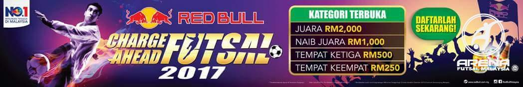 Redbull Charge Ahead Futsal 2017 (Open) @ All Stars Futsal Senawang