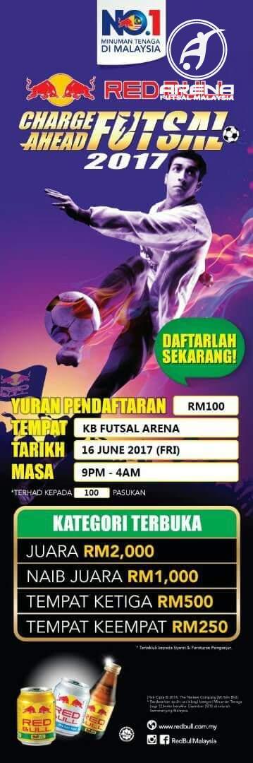 Redbull Charge Ahead Futsal 2017 @ KB Futsal Arena, Kelantan