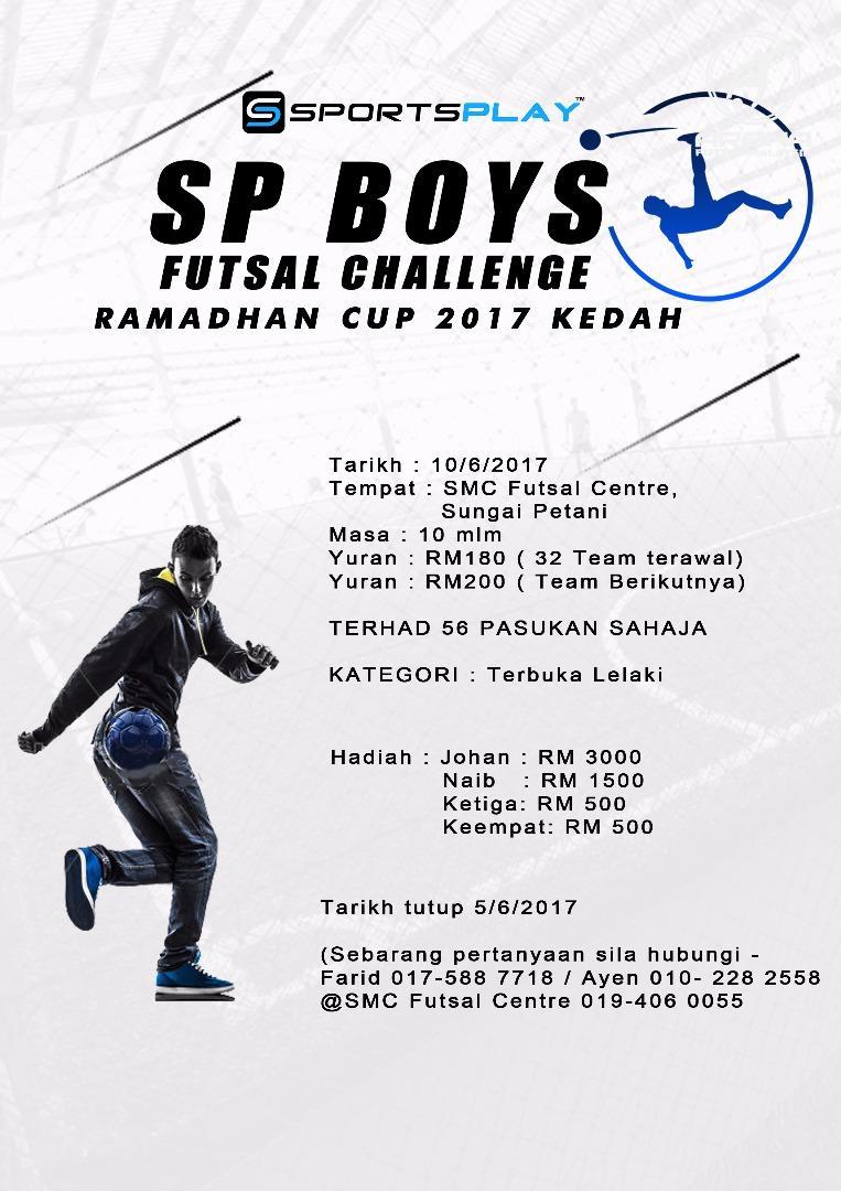 SP Boys Challenge Ramadhan Cup 2017 @ SMC Futsal Centre, Sungai Petani