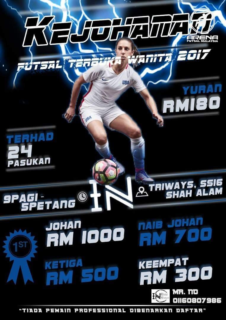 Kejohanan Futsal Terbuka Wanita 2017 @ Triways Shah Alam