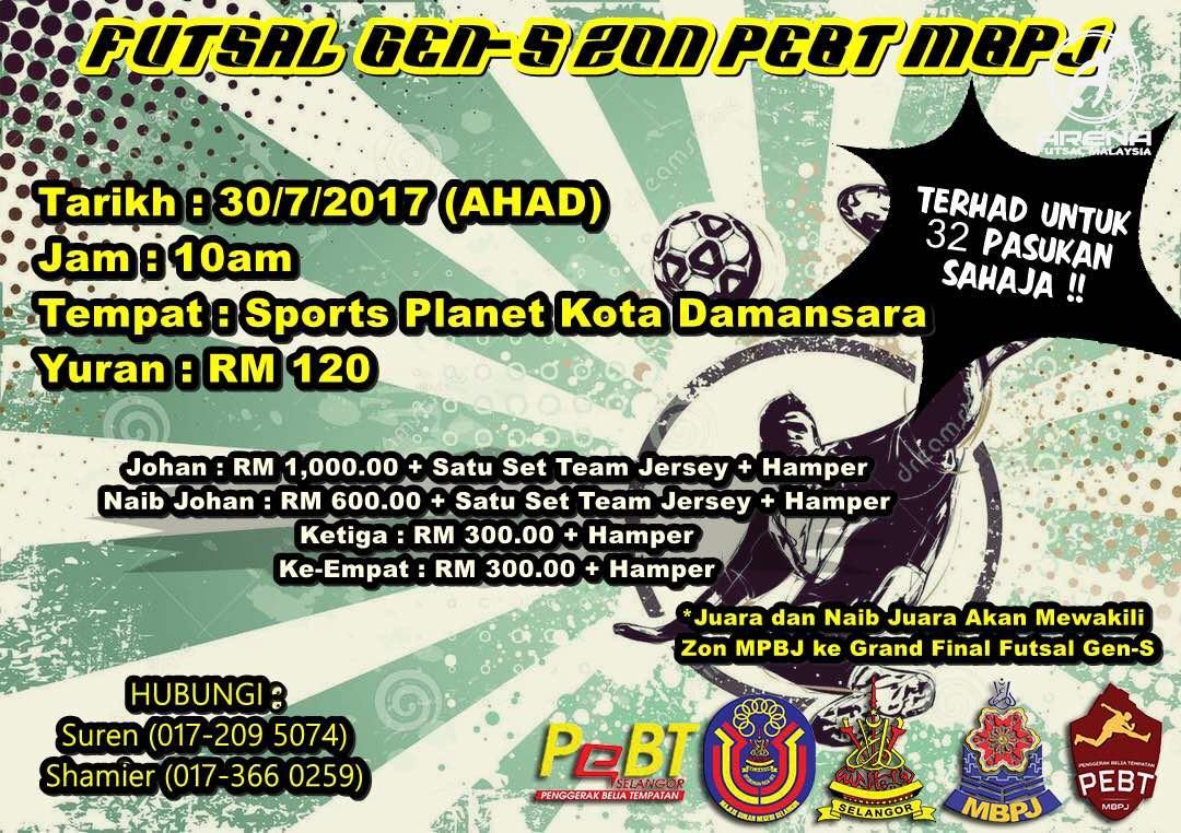 Futsal Gen-S Zon PEBT MBPJ @ Sports Planet Kota Damansara