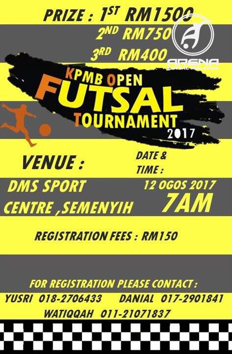 KPMB Open Futsal Tournament @ DMS Sport Centre, Semenyih