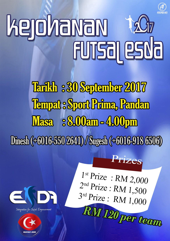 Kejohanan Futsal Esda 2017 @ Sports Prima, Pandan