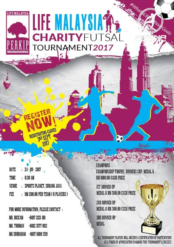 Life Malaysia Charity Futsal Tournament 2017 @ Sports Planet Subang Jaya