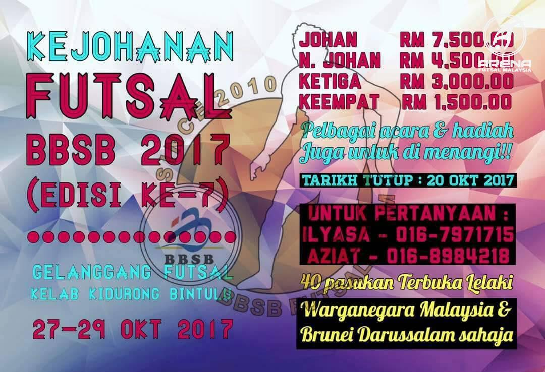 Kejohanan Futsal BBSB 2017 @ Gelanggang Futsal Kelab Kidurong Bintulu
