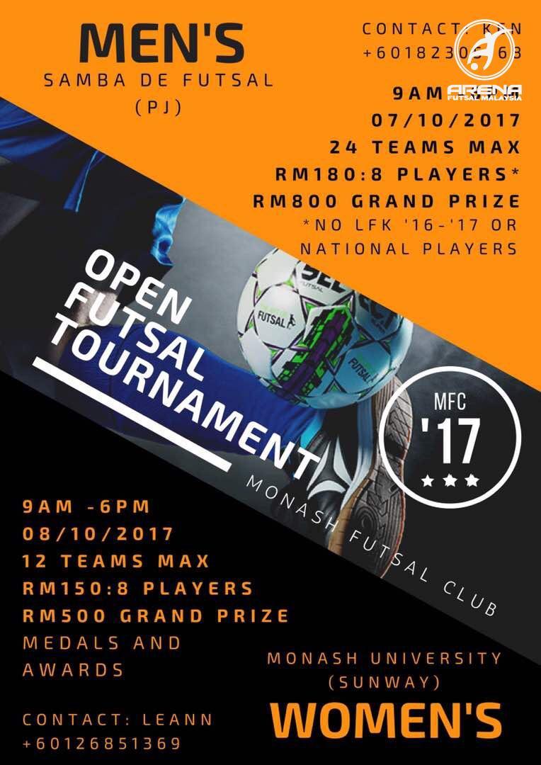 Open Futsal Tournament 2017 @ Samba De Futsal Petaling Jaya