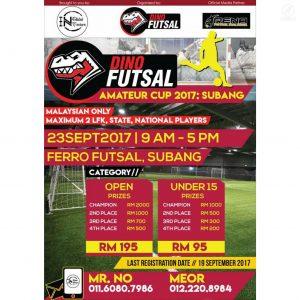 Dino Futsal Amateur 2017 @ Ferro Futsal, Subang