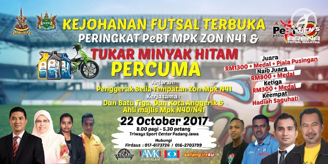 Kejohanan Futsal Terbuka Peringkat PeBT MPK Zon N41 @ Triways Sport Centre, Padang Jawa