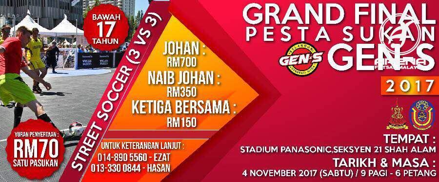 Grand Final Pesta Sukan Gen-S @ Stadium Panasonic, Seksyen 21 Shah Alam