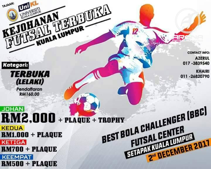 Kejohanan Futsal Terbuka Kuala Lumpur @ Best Bola Challenger Futsal Centre Setapak K.Lumpur