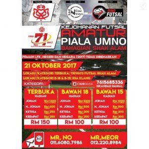Kejohanan Futsal Amatur Piala UMNO Bahagian Shah Alam @ Triways Futsal Shah Alam