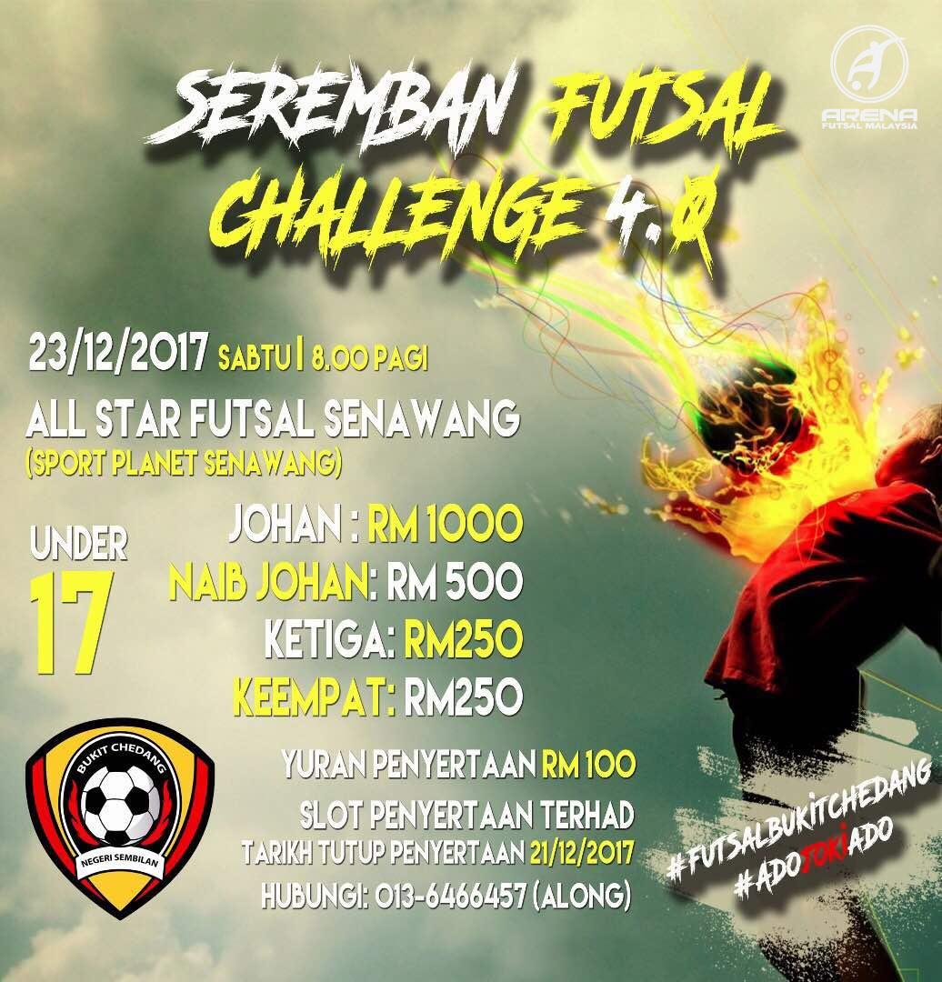 Seremban Futsal Challenge 4.0 @ All Stars Futsal, Senawang. Seremban