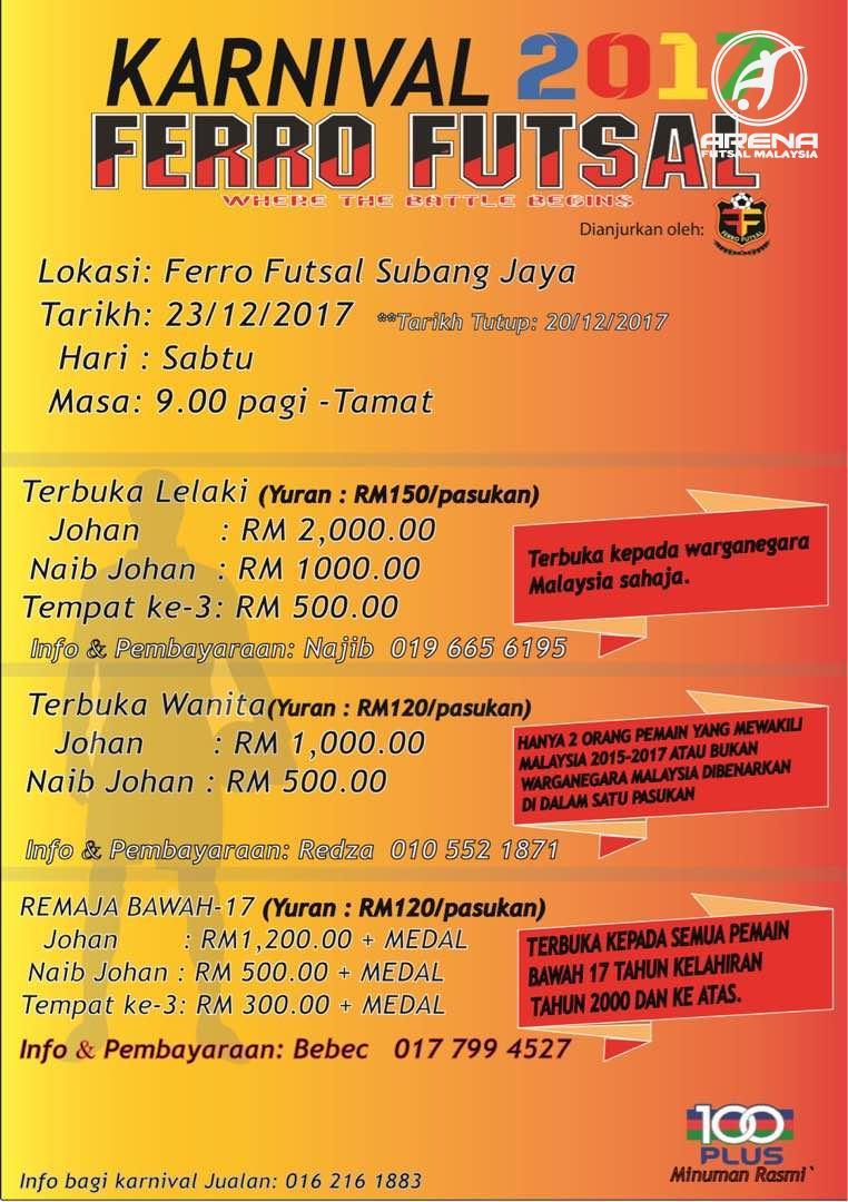 Karnival Ferro Futsal 2017 @ Ferro Futsal Subang Jaya