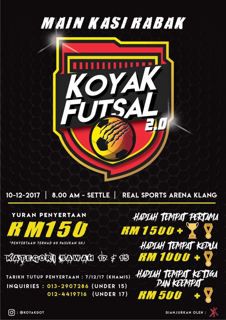 Koyak Futsal 2.0 @ Real Sports Arena, Klang Selangor