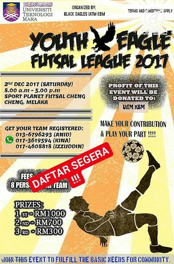Youth Eagle Futsal League 2017 @ Sport Planet Futsal Cheng, Melaka