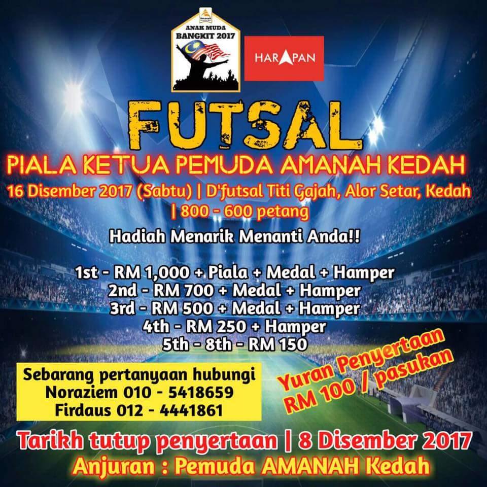 Futsal Piala Ketua Pemuda Amanah Kedah @ D'Futsal Titi Gajah, Alor Setar Kedah