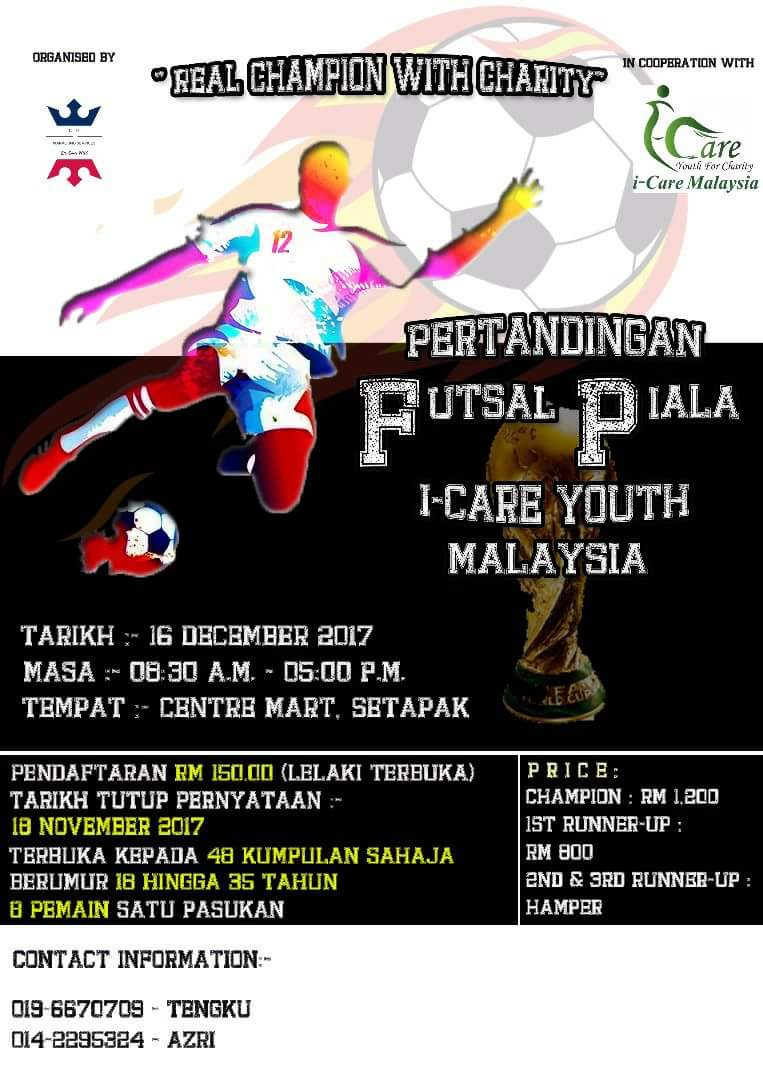 Pertandingan Futsal Piala I-Care Youth Malaysia @ Centre Mart, Setapak