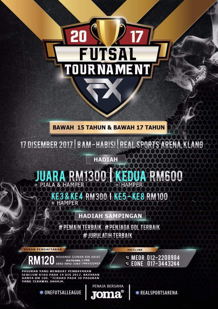 2017 Futsal Tournament U15 & U17 @ Real Sports Arena, Klang