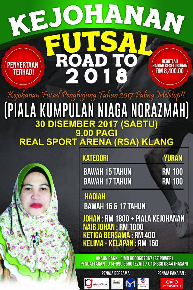 Kejohanan Futsal Road To 2018 @ Real Sports Arena, Klang