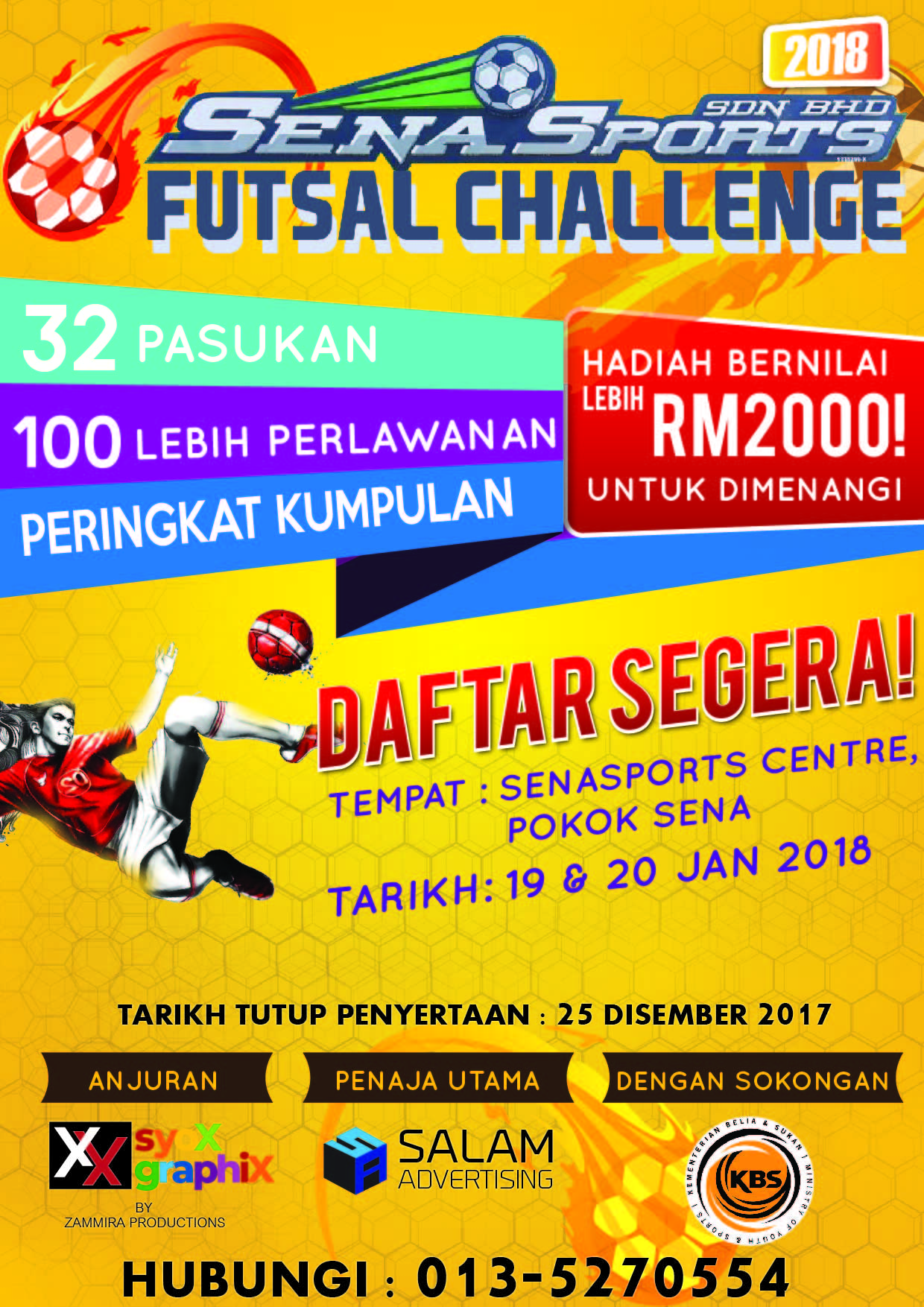 Sena Sports Futsal Challenge @ Senasports Centre, Pokok Sena