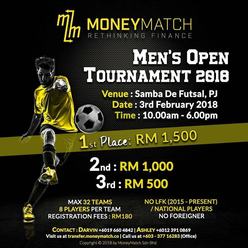 Men's Open Tournament @ Samba De Futsal Petaling Jaya