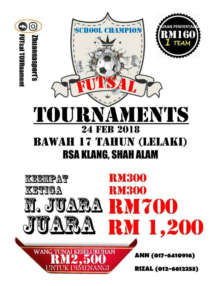 School Champion Futsal Tournament U17 @ RSA Klang, Shah Alam
