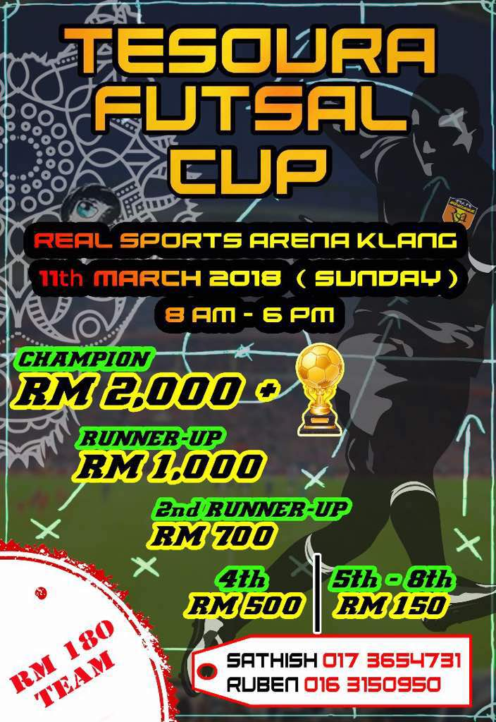 Tesoura Futsal Cup @ Real Sports Arena, Klang