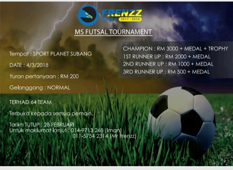 MS Futsal Tournament @ Sports Planet Subang