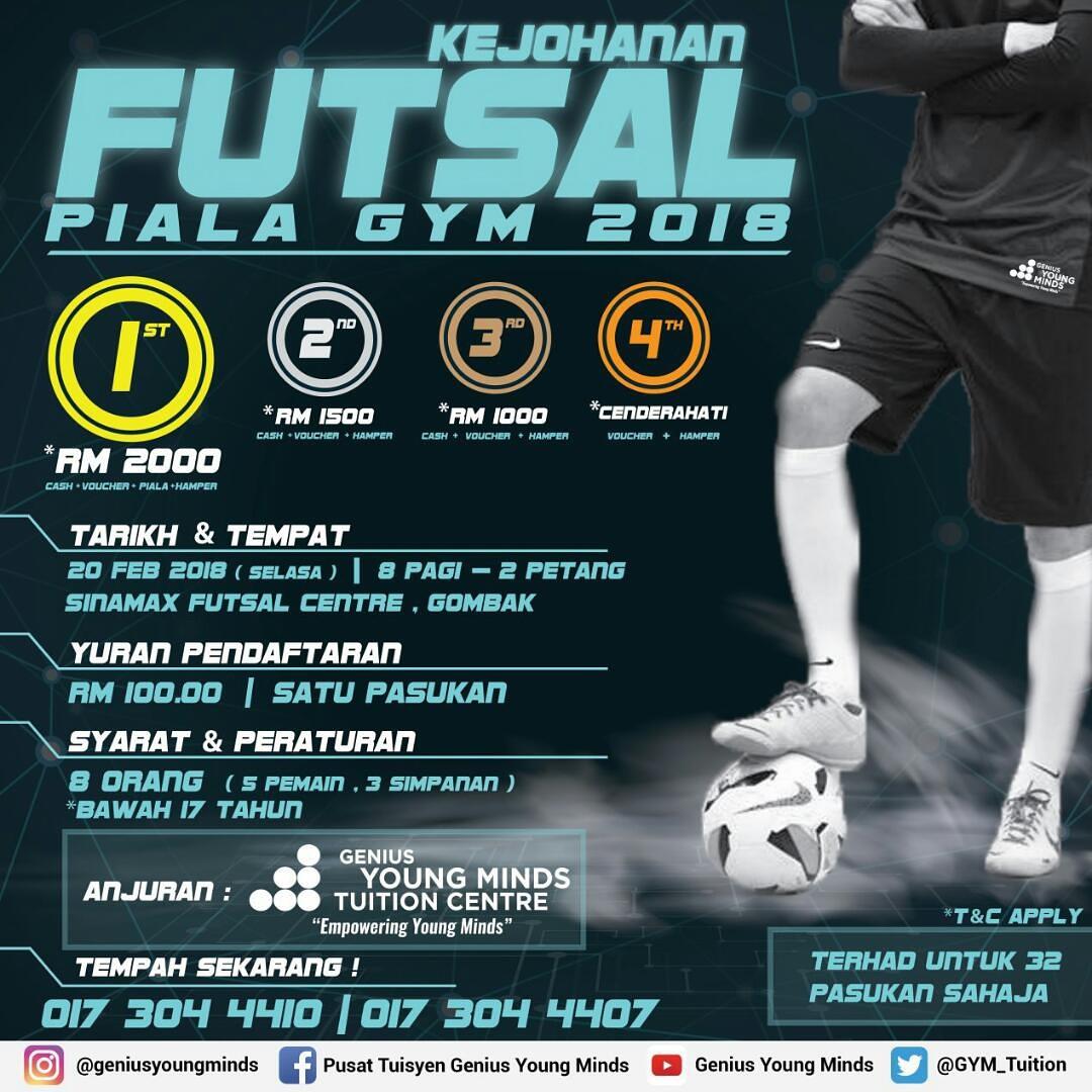 Kejohanan Futsal Piala GYM 2018 @ Sinamax Futsal Centre, Gombak
