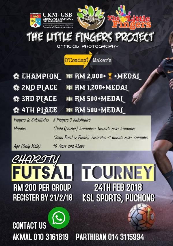 Charity Futsal Tourney @ KSL Sport Puchong