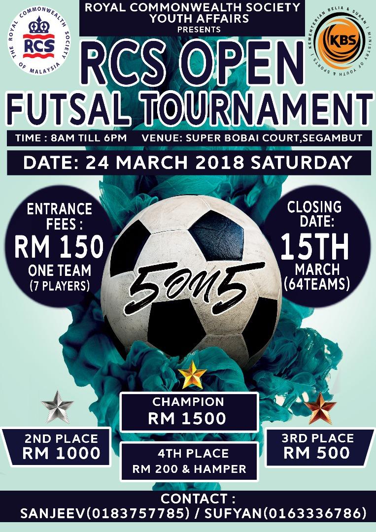 RCS Open Futsal Tournament 2018 @ Super Bobai Futsal Court, Segambut, Kuala Lumpur