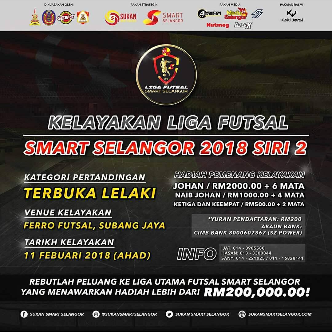 Kelayakan Liga Futsal Smart Selangor 2018 Siri 2 @ Ferro Futsal Subang Jaya