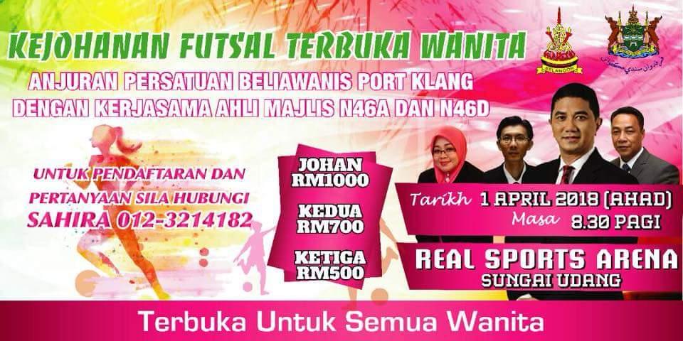 Kejohanan Futsal Terbuka Wanita @ Real Sports Arena