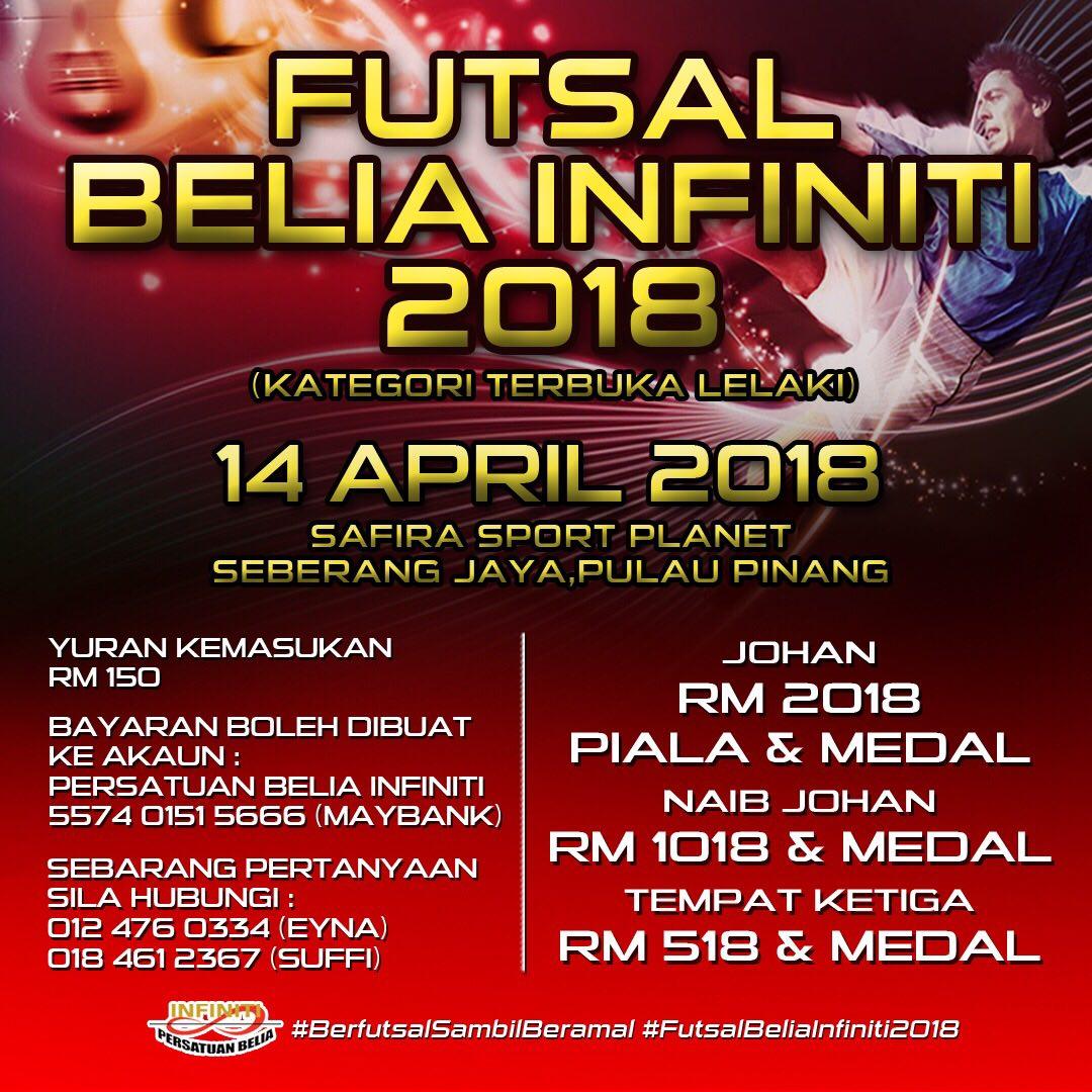 Futsal Belia Infiniti 2018 @ Safira Sports Planet, Seberang Jaya
