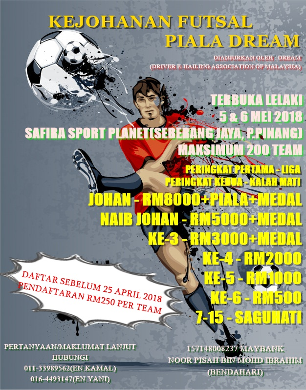 Kejohanan Futsal Piala Dream @ Safira Sports Planet