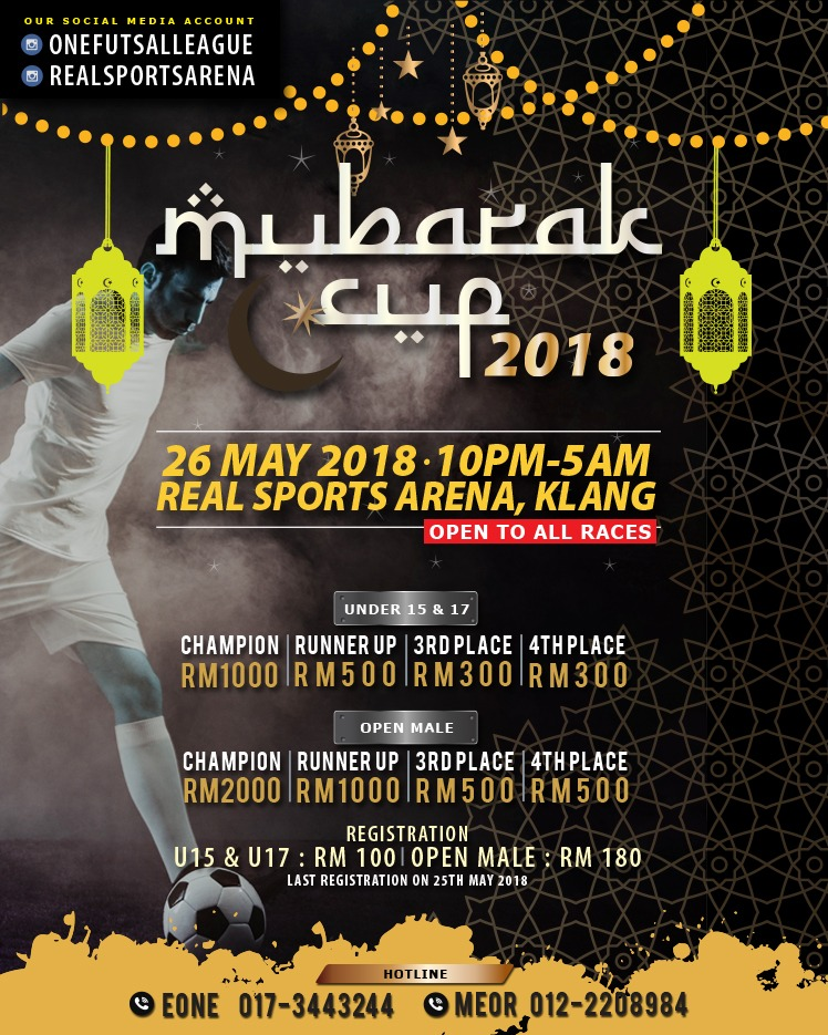 Mubarak Cup 2018 @ Real Sports Arena, Klang